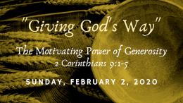 The Motivating Power of Generosity