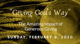 The Amazing Impact of Generous Giving