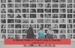A Biblical Model of Church Unity & Diversity