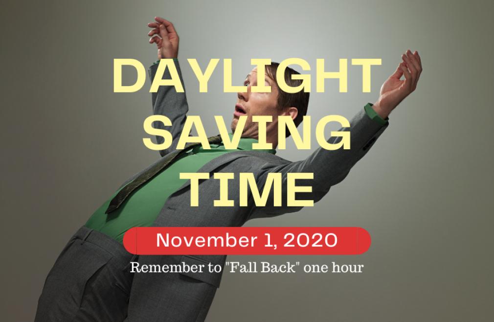 November 1, 2020 Daylight Saving Time