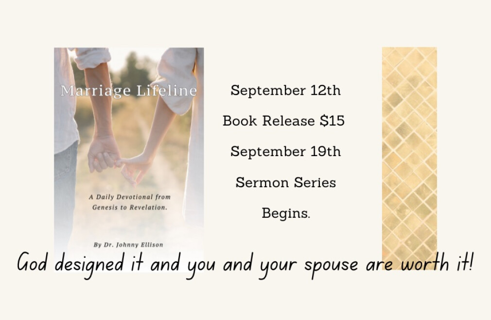 Marriage Lifeline Book Release and Sermon Series